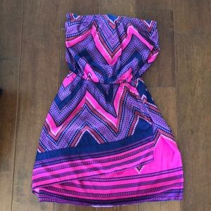 Strapless summer dress or swimsuit coverup.
